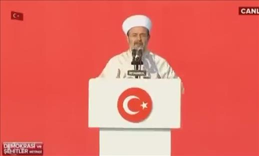 President of Religious Affairs Görmez prayed for the martyrs.